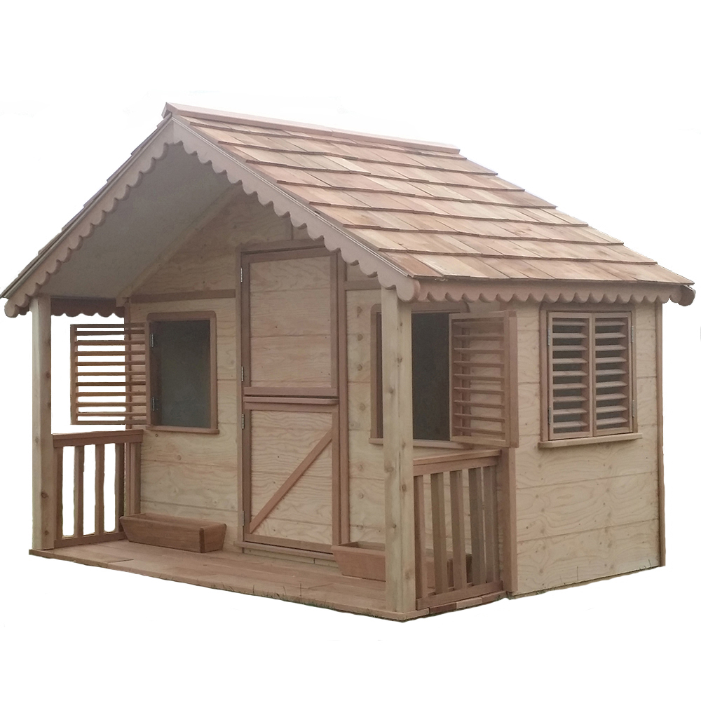 Larger playhouse with covered front porch