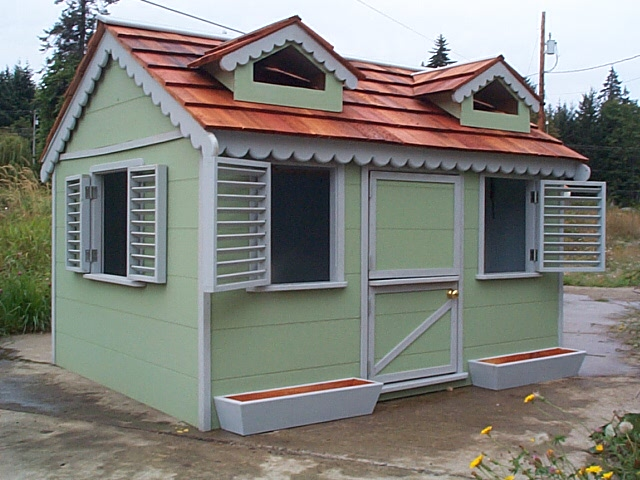 Playhouse with Sea Foam walls