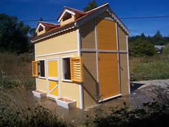 Playhouse with adult door