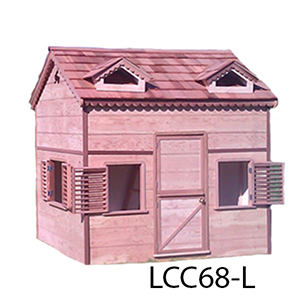 Playhouses with loft are great and they come as easy to assemble playhouse kits