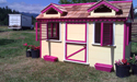 Yellow and pink playhouse