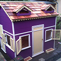 Purple playhouse. Awesome
