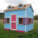 Playhouse with loft and painted