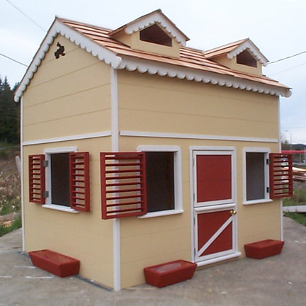 Playhouse with loft