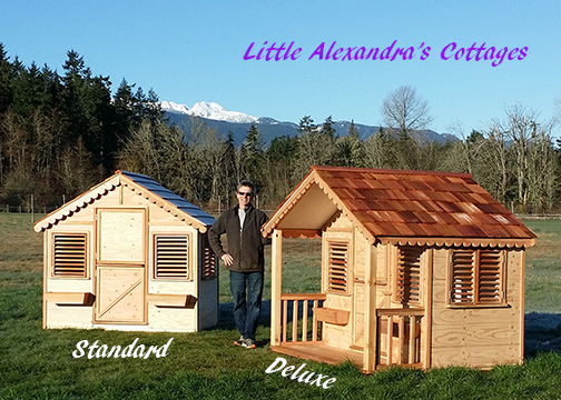 New for 2014. We have pre-built playhouse kits that are ready to be shipped